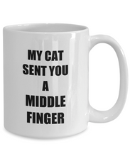 Load image into Gallery viewer, Cat Middle Finger Mug Funny Gift Idea for Novelty Gag Coffee Tea Cup-[style]