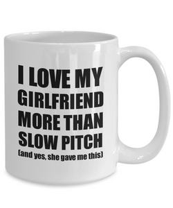 Slow Pitch Boyfriend Mug Funny Valentine Gift Idea For My Bf Lover From Girlfriend Coffee Tea Cup-Coffee Mug