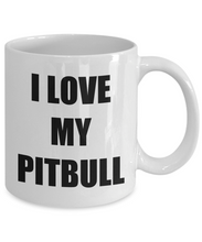 Load image into Gallery viewer, I Love My Pitbull Mug Funny Gift Idea Novelty Gag Coffee Tea Cup-Coffee Mug
