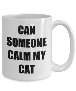 Cat Calming Mug Funny Gift Idea for Novelty Gag Coffee Tea Cup-Coffee Mug