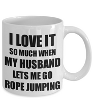 Load image into Gallery viewer, Rope Jumping Mug Funny Gift Idea For Wife I Love It When My Husband Lets Me Novelty Gag Sport Lover Joke Coffee Tea Cup-Coffee Mug