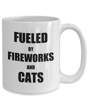 Load image into Gallery viewer, Cat Fireworks Mug Funny Gift Idea for Novelty Gag Coffee Tea Cup-Coffee Mug