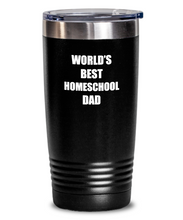 Load image into Gallery viewer, Homeschool Dad Tumbler Funny Gift Idea for Novelty Gag Coffee Tea Insulated Cup With Lid-Tumbler