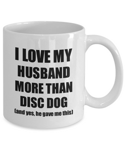 Disc Dog Wife Mug Funny Valentine Gift Idea For My Spouse Lover From Husband Coffee Tea Cup-Coffee Mug