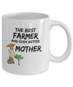 Farmer Mom Mug Best Mother Funny Gift for Mama Novelty Gag Coffee Tea Cup-Coffee Mug