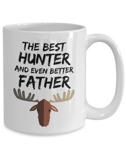 Load image into Gallery viewer, Hunter Dad Mug - Best Deer Hunter Father Ever - Funny Gift for Moose Hunter Daddy-Coffee Mug