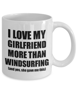 Windsurfing Boyfriend Mug Funny Valentine Gift Idea For My Bf Lover From Girlfriend Coffee Tea Cup-Coffee Mug