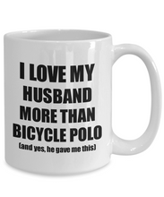 Load image into Gallery viewer, Bicycle Polo Wife Mug Funny Valentine Gift Idea For My Spouse Lover From Husband Coffee Tea Cup-Coffee Mug