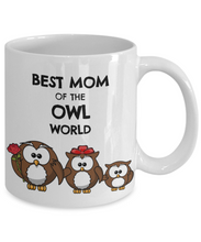 Load image into Gallery viewer, Owl Mom Mug Cute Owl Lover Mother Gift Idea from Child Daughter Coffee Tea Cup-Coffee Mug