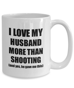 Shooting Wife Mug Funny Valentine Gift Idea For My Spouse Lover From Husband Coffee Tea Cup-Coffee Mug