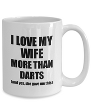 Load image into Gallery viewer, Darts Husband Mug Funny Valentine Gift Idea For My Hubby Lover From Wife Coffee Tea Cup-Coffee Mug