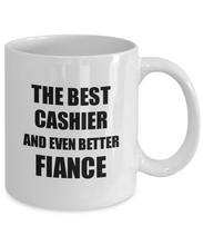Load image into Gallery viewer, Cashier Fiance Mug Funny Gift Idea for Betrothed Gag Inspiring Joke The Best And Even Better Coffee Tea Cup-Coffee Mug