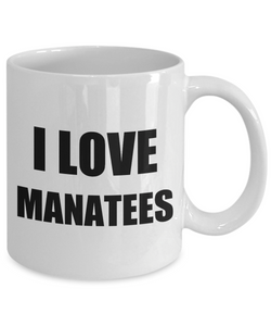 I Love Manatees Mug Funny Gift Idea Novelty Gag Coffee Tea Cup-Coffee Mug