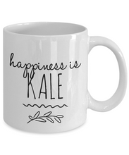 Load image into Gallery viewer, Happiness is Kale funny mug for vegan-Coffee Mug