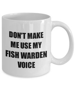 Fish Warden Mug Coworker Gift Idea Funny Gag For Job Coffee Tea Cup-Coffee Mug