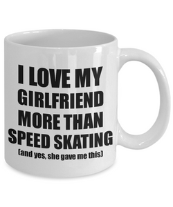 Speed Skating Boyfriend Mug Funny Valentine Gift Idea For My Bf Lover From Girlfriend Coffee Tea Cup-Coffee Mug