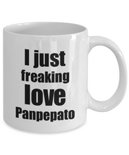 Load image into Gallery viewer, Panpepato Lover Mug I Just Freaking Love Funny Gift Idea For Foodie Coffee Tea Cup-Coffee Mug
