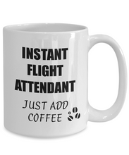 Load image into Gallery viewer, Flight Attendant Mug Instant Just Add Coffee Funny Gift Idea for Corworker Present Workplace Joke Office Tea Cup-Coffee Mug