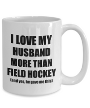 Load image into Gallery viewer, Field Hockey Wife Mug Funny Valentine Gift Idea For My Spouse Lover From Husband Coffee Tea Cup-Coffee Mug