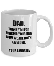 Load image into Gallery viewer, Dad Dna Mug From Daughter Son Funny Gift Idea for Novelty Gag Coffee Tea Cup-Coffee Mug