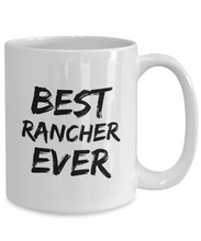 Load image into Gallery viewer, Rancher Mug Ranch Owner Best Ever Funny Gift for Coworkers Novelty Gag Coffee Tea Cup-Coffee Mug