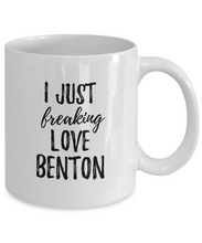 Load image into Gallery viewer, I Just Freaking Love Benton Mug Funny Gift Idea For Custom Name Coffee Tea Cup-Coffee Mug
