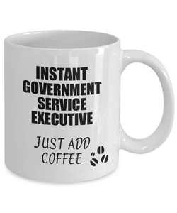 Government Service Executive Mug Instant Just Add Coffee Funny Gift Idea for Coworker Present Workplace Joke Office Tea Cup-Coffee Mug