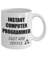 Load image into Gallery viewer, Computer Programmer Mug Instant Just Add Coffee Funny Gift Idea for Corworker Present Workplace Joke Office Tea Cup-Coffee Mug