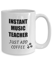 Load image into Gallery viewer, Music Teacher Mug Instant Just Add Coffee Funny Gift Idea for Corworker Present Workplace Joke Office Tea Cup-Coffee Mug
