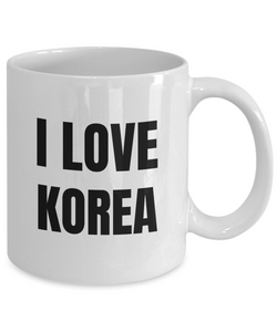 I Love Korea Mug Funny Gift Idea Novelty Gag Coffee Tea Cup-Coffee Mug
