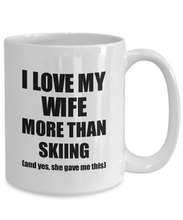 Load image into Gallery viewer, Skiing Husband Mug Funny Valentine Gift Idea For My Hubby Lover From Wife Coffee Tea Cup-Coffee Mug