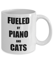 Load image into Gallery viewer, Cat Piano Mug Funny Gift Idea for Novelty Gag Coffee Tea Cup-Coffee Mug