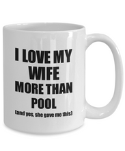 Load image into Gallery viewer, Pool Husband Mug Funny Valentine Gift Idea For My Hubby Lover From Wife Coffee Tea Cup-Coffee Mug