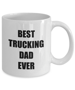 Best Trucking Dad Ever Mug Funny Gift Idea for Novelty Gag Coffee Tea Cup-[style]