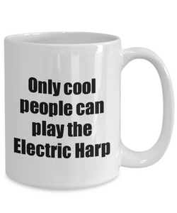 Electric Harp Player Mug Musician Funny Gift Idea Gag Coffee Tea Cup-Coffee Mug