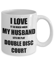 Load image into Gallery viewer, Double Disc Court Mug Funny Gift Idea For Wife I Love It When My Husband Lets Me Novelty Gag Sport Lover Joke Coffee Tea Cup-Coffee Mug