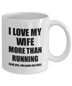 Running Husband Mug Funny Valentine Gift Idea For My Hubby Lover From Wife Coffee Tea Cup-Coffee Mug