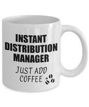 Load image into Gallery viewer, Distribution Manager Mug Instant Just Add Coffee Funny Gift Idea for Coworker Present Workplace Joke Office Tea Cup-Coffee Mug