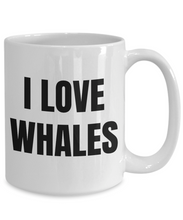 Load image into Gallery viewer, I Love Whales Mug Funny Gift Idea Novelty Gag Coffee Tea Cup-Coffee Mug