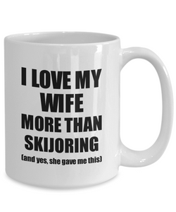 Skijoring Husband Mug Funny Valentine Gift Idea For My Hubby Lover From Wife Coffee Tea Cup-Coffee Mug