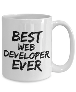 Web Developer Mug Best IT Nerd Geek Ever Funny Gift for Coworkers Novelty Gag Coffee Tea Cup-Coffee Mug