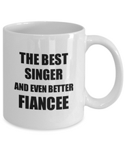 Load image into Gallery viewer, Singer Fiancee Mug Funny Gift Idea for Her Betrothed Gag Inspiring Joke The Best And Even Better Coffee Tea Cup-Coffee Mug