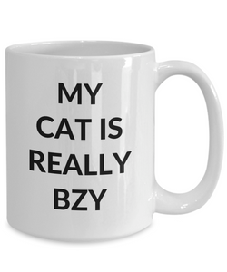 Bzy Cat Mug Funny Gift Idea for Novelty Gag Coffee Tea Cup-[style]