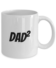 Load image into Gallery viewer, Dad Squared Mug Funny Gift Idea for Novelty Gag Coffee Tea Cup-Coffee Mug