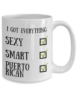 Puerto Rican Coffee Mug Rico Pride Sexy Smart Funny Gift for Humor Novelty Ceramic Tea Cup-Coffee Mug