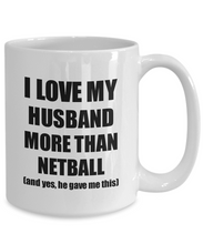 Load image into Gallery viewer, Netball Wife Mug Funny Valentine Gift Idea For My Spouse Lover From Husband Coffee Tea Cup-Coffee Mug