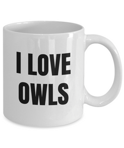 I Love Owls Mug Funny Gift Idea Novelty Gag Coffee Tea Cup-Coffee Mug