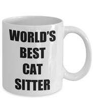 Load image into Gallery viewer, Cat Sitter Mug Pet Funny Gift Idea for Novelty Gag Coffee Tea Cup-Coffee Mug