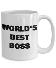 Load image into Gallery viewer, Worlds Best Boss Mug Funny Gift Idea for my Patron Supervisor CEO Director Supervisor Coffee Tea Cup-Coffee Mug