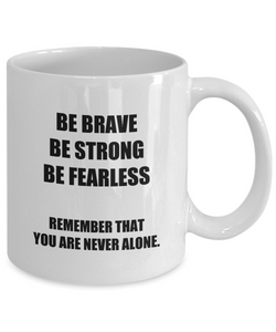 Dad Mug Verse Brave Strong Fearless Inspirational Quote Mom Funny Gift Idea for Novelty Gag Coffee Tea Cup-Coffee Mug